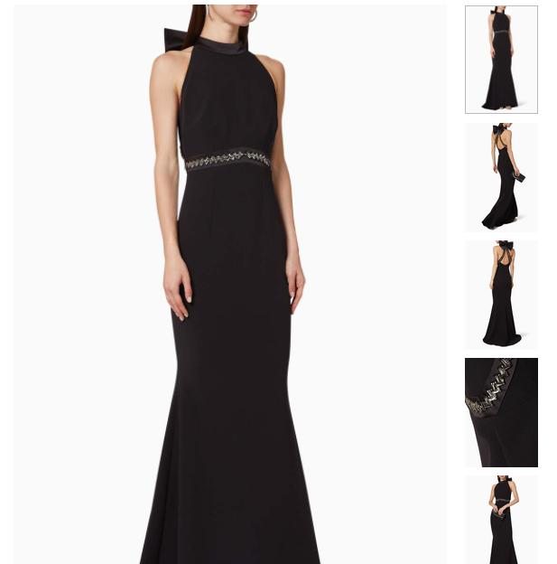 فستان سهرة شينيس كريب مطرز من الخلف